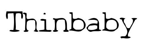Шрифт Thinbaby