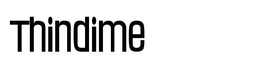 Thindime font, free Thindime font, preview Thindime font