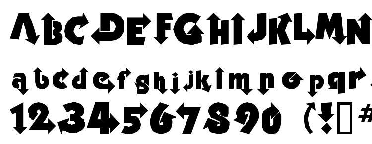 глифы шрифта Thisway, символы шрифта Thisway, символьная карта шрифта Thisway, предварительный просмотр шрифта Thisway, алфавит шрифта Thisway, шрифт Thisway