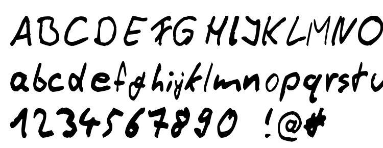 glyphs Thommy Handwrite font, сharacters Thommy Handwrite font, symbols Thommy Handwrite font, character map Thommy Handwrite font, preview Thommy Handwrite font, abc Thommy Handwrite font, Thommy Handwrite font