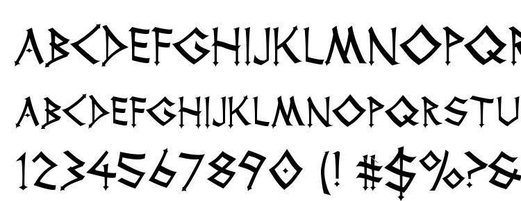 glyphs Thor font, сharacters Thor font, symbols Thor font, character map Thor font, preview Thor font, abc Thor font, Thor font
