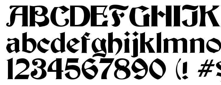 глифы шрифта Thornton, символы шрифта Thornton, символьная карта шрифта Thornton, предварительный просмотр шрифта Thornton, алфавит шрифта Thornton, шрифт Thornton