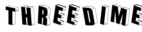 Шрифт Threedimensional