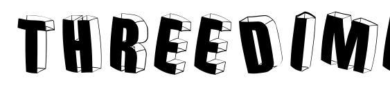 Threedimensionalround Font