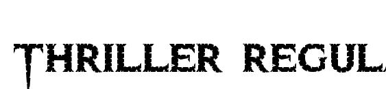 Thriller regular Font