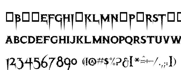 глифы шрифта Thriller, символы шрифта Thriller, символьная карта шрифта Thriller, предварительный просмотр шрифта Thriller, алфавит шрифта Thriller, шрифт Thriller