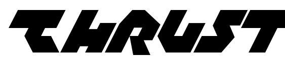 шрифт Thrust, бесплатный шрифт Thrust, предварительный просмотр шрифта Thrust