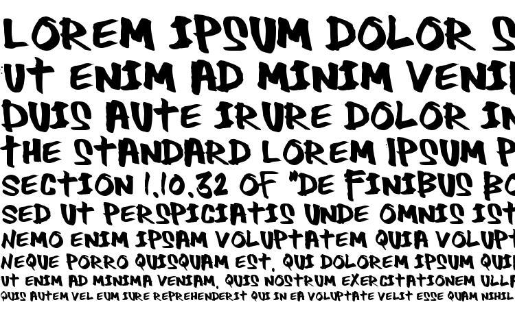 specimens Thug font, sample Thug font, an example of writing Thug font, review Thug font, preview Thug font, Thug font