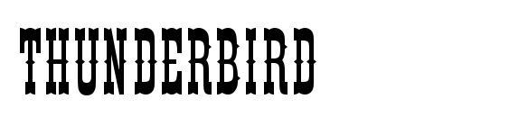 Thunderbird font, free Thunderbird font, preview Thunderbird font