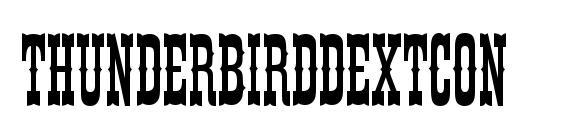 ThunderbirdDExtCon Font