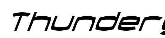 Thundergod Condensed Italic Font
