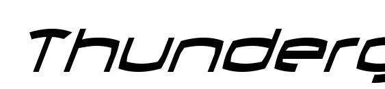 Шрифт Thundergod II Condensed Italic