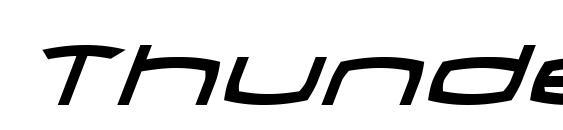 Шрифт Thundergod Italic