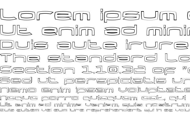 specimens Thundergod Outline font, sample Thundergod Outline font, an example of writing Thundergod Outline font, review Thundergod Outline font, preview Thundergod Outline font, Thundergod Outline font