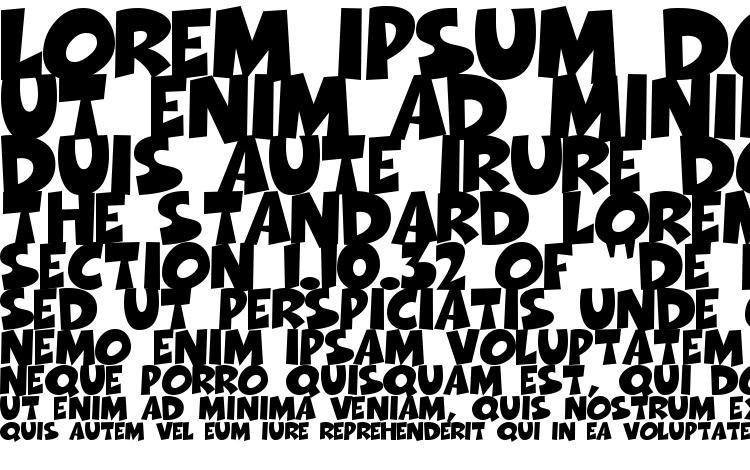 specimens Thwack font, sample Thwack font, an example of writing Thwack font, review Thwack font, preview Thwack font, Thwack font