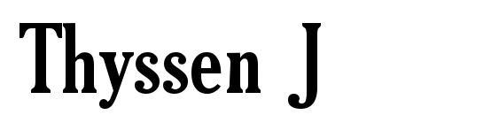 Thyssen J Font