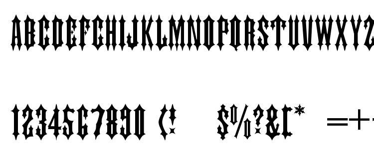 глифы шрифта Tiara, символы шрифта Tiara, символьная карта шрифта Tiara, предварительный просмотр шрифта Tiara, алфавит шрифта Tiara, шрифт Tiara