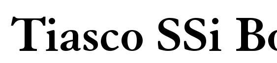 шрифт Tiasco SSi Bold, бесплатный шрифт Tiasco SSi Bold, предварительный просмотр шрифта Tiasco SSi Bold