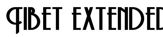 Tibet extended bold Font