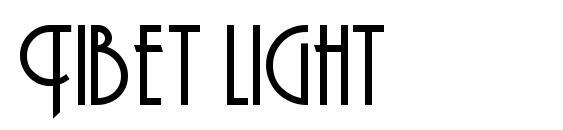 Шрифт Tibet light