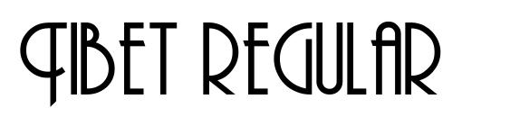 Tibet regular font, free Tibet regular font, preview Tibet regular font