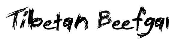 Шрифт Tibetan Beefgarden AOE