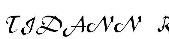 TIDANN Regular Font