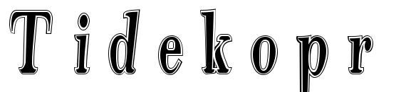 шрифт Tidekopr, бесплатный шрифт Tidekopr, предварительный просмотр шрифта Tidekopr