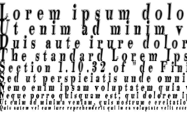 specimens Tidelagskoprofag font, sample Tidelagskoprofag font, an example of writing Tidelagskoprofag font, review Tidelagskoprofag font, preview Tidelagskoprofag font, Tidelagskoprofag font