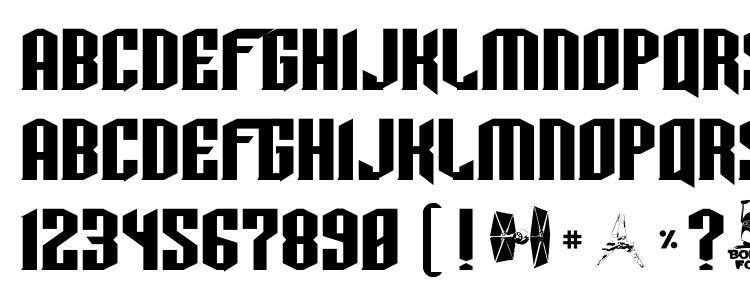 глифы шрифта Tie wing, символы шрифта Tie wing, символьная карта шрифта Tie wing, предварительный просмотр шрифта Tie wing, алфавит шрифта Tie wing, шрифт Tie wing