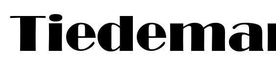 Tiedeman font, free Tiedeman font, preview Tiedeman font