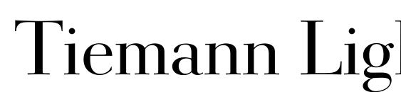 Tiemann Light Font, PC Fonts