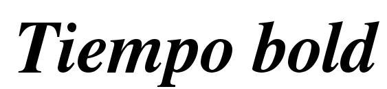 Шрифт Tiempo bold italic