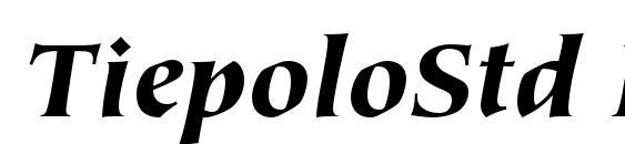 шрифт TiepoloStd BlackItalic, бесплатный шрифт TiepoloStd BlackItalic, предварительный просмотр шрифта TiepoloStd BlackItalic