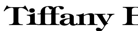 Tiffany Bold Wd Font
