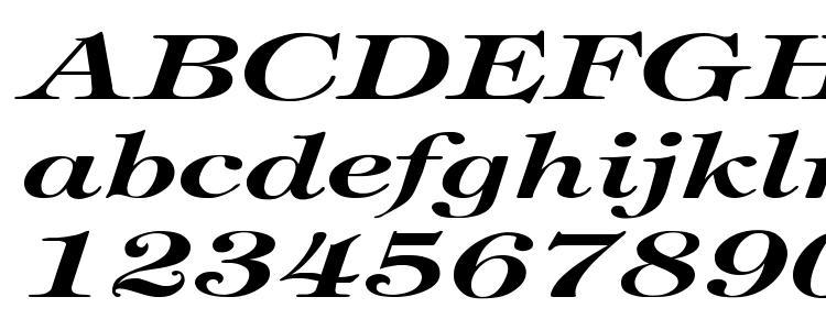 глифы шрифта Tiffany BoldItalic Ex, символы шрифта Tiffany BoldItalic Ex, символьная карта шрифта Tiffany BoldItalic Ex, предварительный просмотр шрифта Tiffany BoldItalic Ex, алфавит шрифта Tiffany BoldItalic Ex, шрифт Tiffany BoldItalic Ex