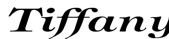 шрифт Tiffany BoldItalic Ex, бесплатный шрифт Tiffany BoldItalic Ex, предварительный просмотр шрифта Tiffany BoldItalic Ex