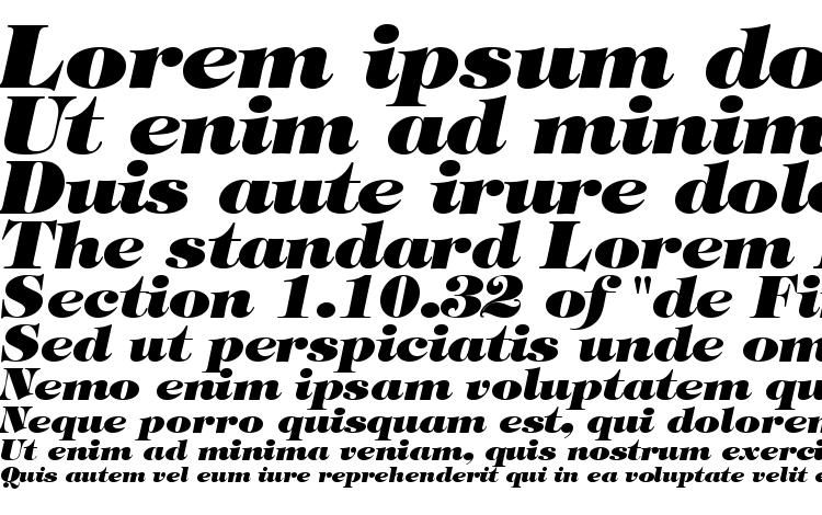 specimens Tiffany Heavy Italic BT font, sample Tiffany Heavy Italic BT font, an example of writing Tiffany Heavy Italic BT font, review Tiffany Heavy Italic BT font, preview Tiffany Heavy Italic BT font, Tiffany Heavy Italic BT font