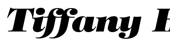 Tiffany Heavy Italic BT font, free Tiffany Heavy Italic BT font, preview Tiffany Heavy Italic BT font