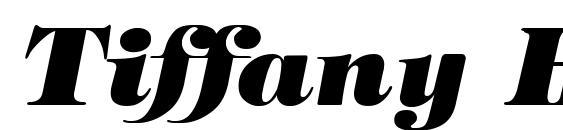 Шрифт Tiffany Heavy Italic