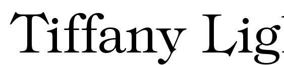 Tiffany Light BT Font