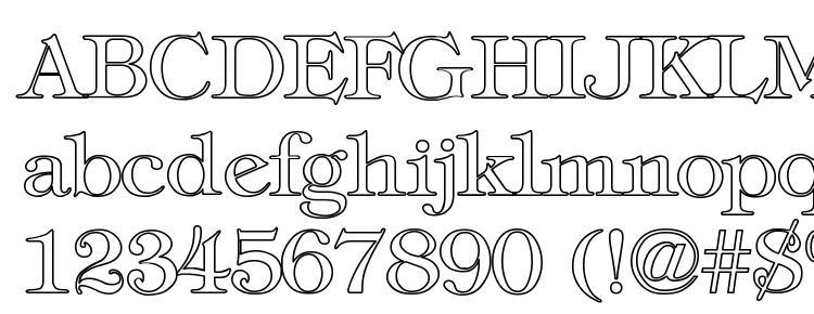 glyphs Tiffany Normal Hollow font, сharacters Tiffany Normal Hollow font, symbols Tiffany Normal Hollow font, character map Tiffany Normal Hollow font, preview Tiffany Normal Hollow font, abc Tiffany Normal Hollow font, Tiffany Normal Hollow font