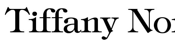 Tiffany Normal Font