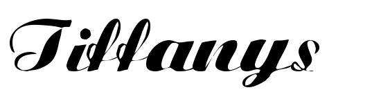 Шрифт Tiffanys