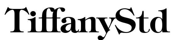 шрифт TiffanyStd Demi, бесплатный шрифт TiffanyStd Demi, предварительный просмотр шрифта TiffanyStd Demi