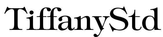 Шрифт TiffanyStd