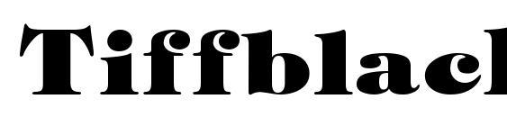 Шрифт Tiffblack