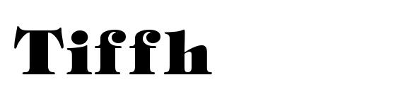 Шрифт Tiffh