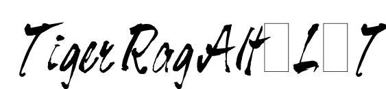 Шрифт Tiger Rag Alts LET Plain.1.0