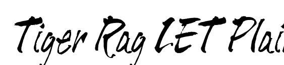 Tiger Rag LET Plain.1.0 font, free Tiger Rag LET Plain.1.0 font, preview Tiger Rag LET Plain.1.0 font